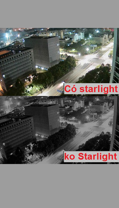 camera starlight nhìn đêm có màu