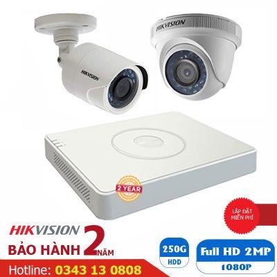 trọn bộ camera 2m 1080P hikvision